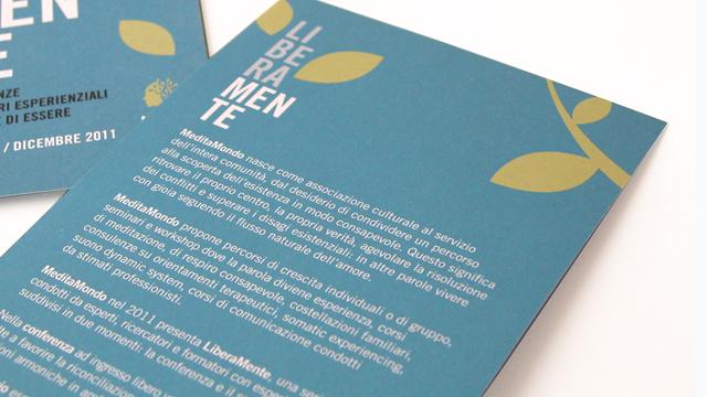 Associazione Culturale Meditamondo, biglietti da visita, carta intestata - La Designer, Linda Armelius