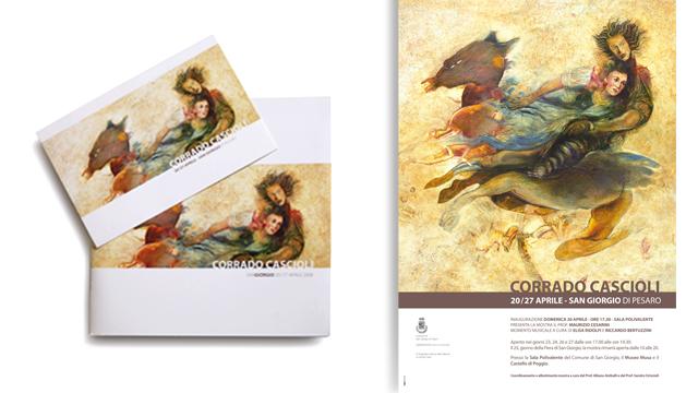 Catalogo, invito e manifesto mostra Corrado Cascioli